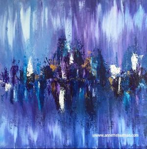 Blue painting acrylic abstract