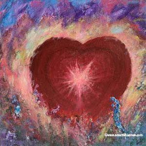 Målning hjärta