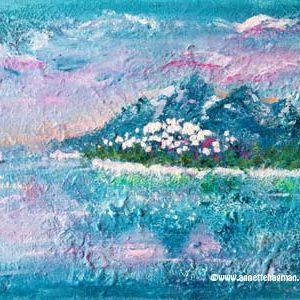 Målning Akryl vattenlandskap