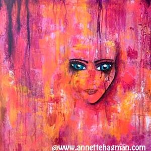 Painting acrylic pink and face