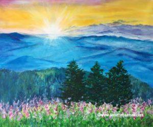 Målning akryl landskap