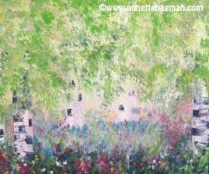 Målning akryl Midsommardröm