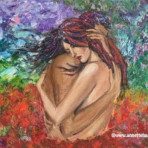 Målning Akryl Kärlekspar