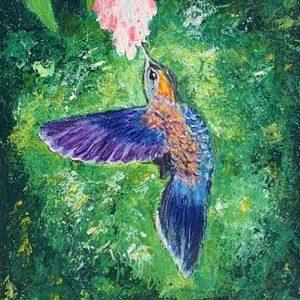 Målning Akryl Kolibri