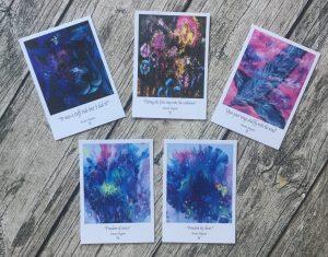 Bild 5-pack konstkort