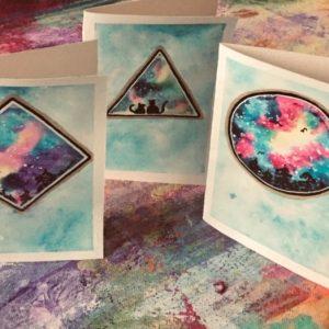 Handmålade presentkort