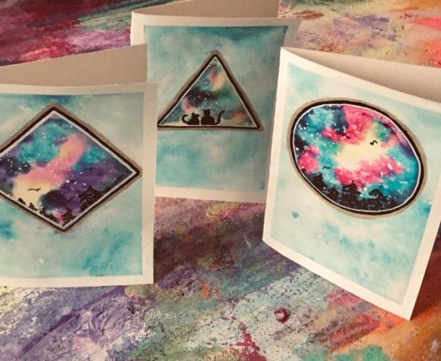 Presentkort handmålat