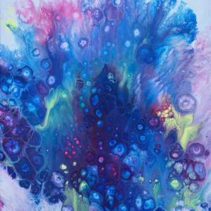 målning i akryl